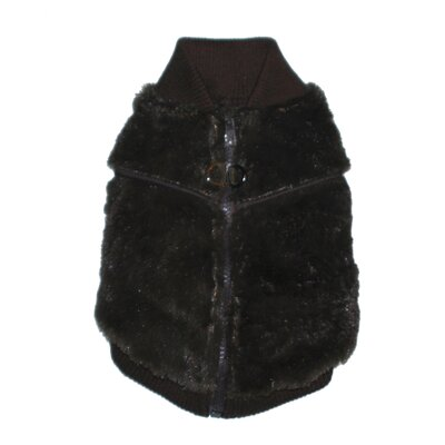 Mink Dog Sweater Vest in Charcoal