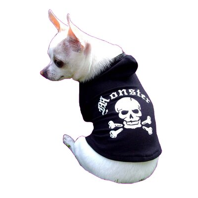 Hip Doggie Monster Dog Hoodie in Black