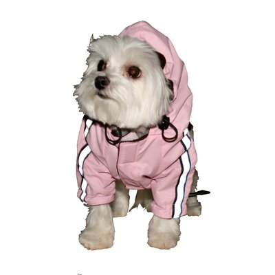 Puppagonia Dog Rain Parka in Pink