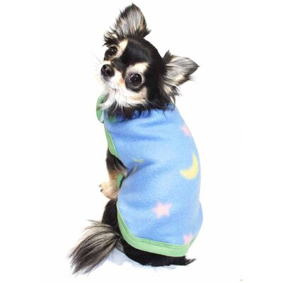 Star and Moon Fleece Dog Vest
