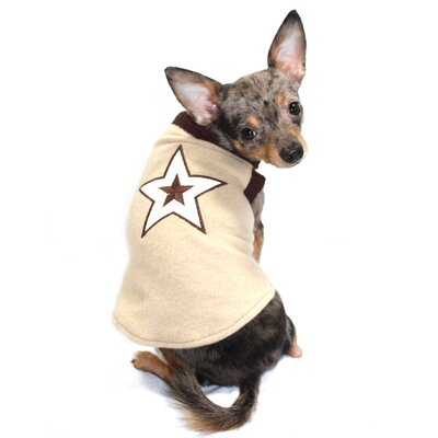 Hip Doggie Star Dog Sweater Vest in Tan