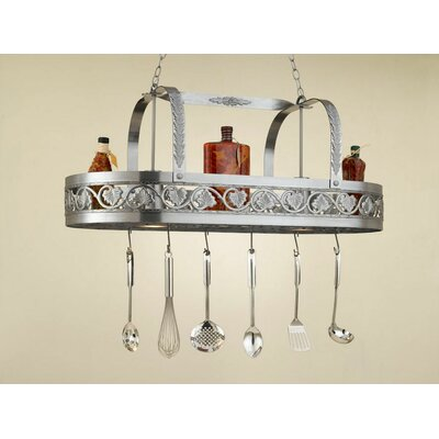 Leaf Rounded Hanging Pot Rack with 2 Lights