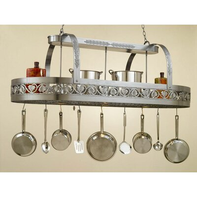 Leaf Rounded Hanging Pot Rack with 3 Lights