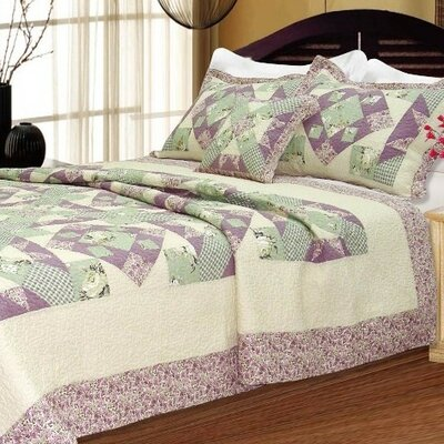 Lancaster Patchwork Quilt Collection in Purple