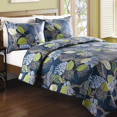 J&J Bedding Tropical Leaves Quilt Collection