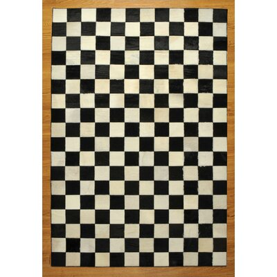 Natural Area Rugs Cow Hide Patchwork Checkered Bergama Rug