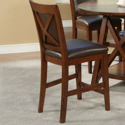Alpine Furniture Oberlin Counter Height Chairs With Faux Leather Cushion