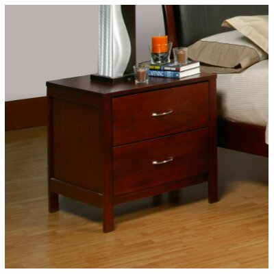 Alpine Furniture Newport 2 Drawer Nightstand