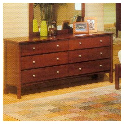 Alpine Furniture Costa 6 Drawer Dresser