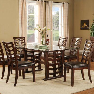 Alpine Furniture Wisteria 7 Piece Dining Set