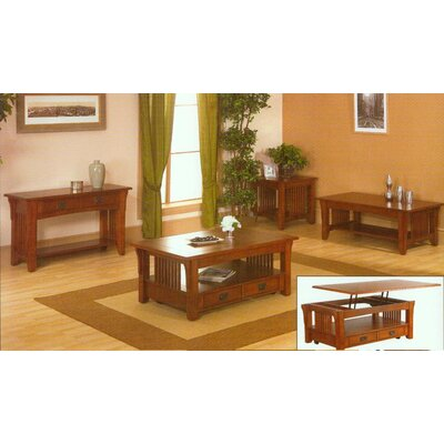 Alpine Furniture Mission Style Coffee Table Set