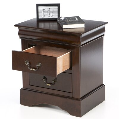 Alpine Furniture West Haven 2 Drawer Nightstand
