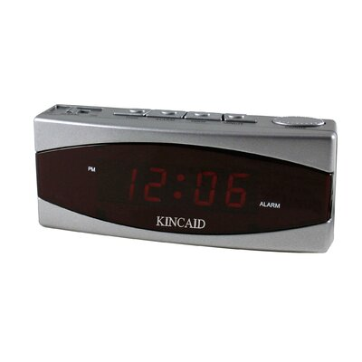 Two Piece Electric LED Display Table Clock with Snooze Bar (Set of 2)