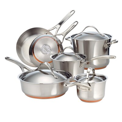 Anolon Nouvelle Stainless Steel 10-Piece Cookware Set