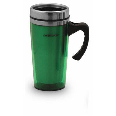 Farberware Acrylic Travel Mug in Green (Set of 2)