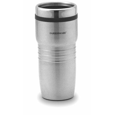Farberware Travel Mug without Handle in Stainless Steel (Set of 2)
