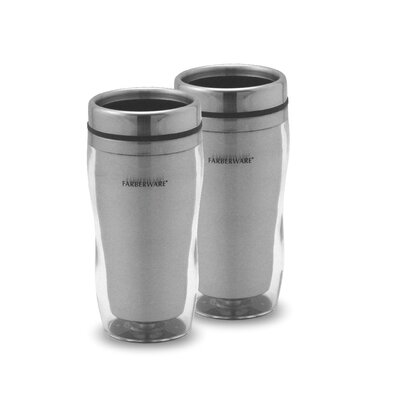 Farberware Travel Mug without Handle in Clear (Set of 2)