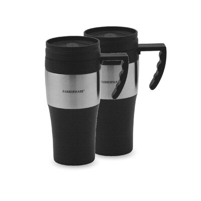 Travel Mug in Black (Set of 2)