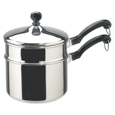 Farberware Stainless Steel 2-qt. Double Boiler with Lid