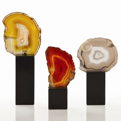 ARTERIORS Home Fergie Agate 3 Piece Slice Sculpture Set