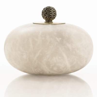 ARTERIORS Home Chester Snow Marble Finial Decorative Jar