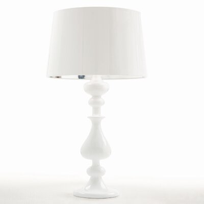ARTERIORS Home White Lola Lamp with White Patent Leather Shade