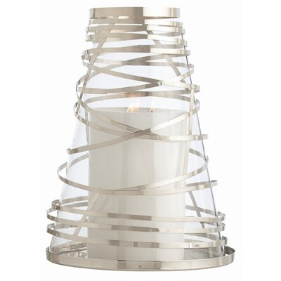 ARTERIORS Home Tory Steel Wrapped Glass Hurricane