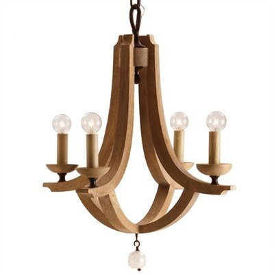 ARTERIORS Home Manning Wood / Crystal Chandelier