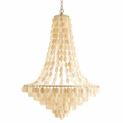 Southampton Large 8 Light Iron / Shell Chandelier