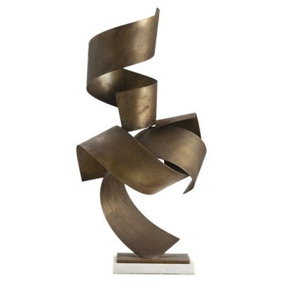 ARTERIORS Home Henley Sculpture in Vintage Brass