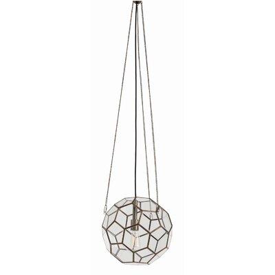 Beck Faceted 1 Light Globe Pendant