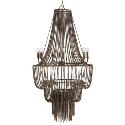 ARTERIORS Home Maxim 7 Light Iron Beaded Chandelier