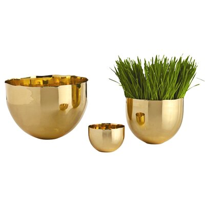 ARTERIORS Home Stockholm Polished Brass Bowl (Set of 3)