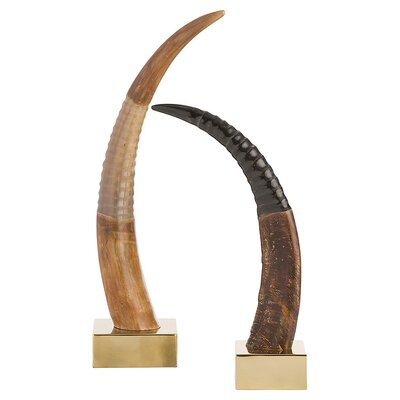 ARTERIORS Home 2 Piece Ignacio Horn Figurine Set