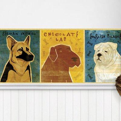 4 Walls Top Dog Mural Style Wallpaper Border