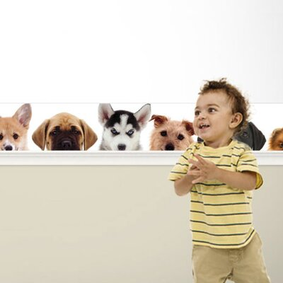 4 Walls Good Dog Mural Style Art Wallpaper Border