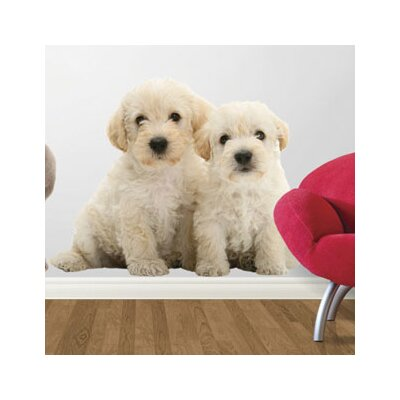 4 Walls Puppy Love Woodle Pups Wall Decal