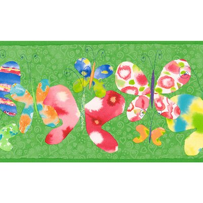4 Walls Whimsical Children's Vol. 1 Butterfly Border in Green