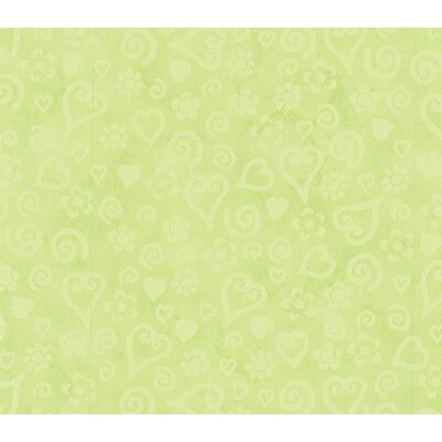 Whimsical Children's Vol. 1 Tonal Hearts Wallpaper in Lime