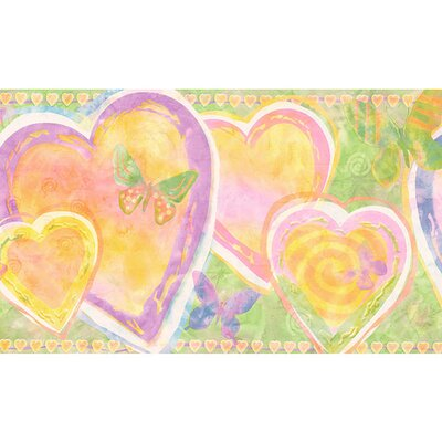 4 Walls Whimsical Children's Vol. 1 Heart Border in Lime