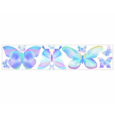 4 Walls Fluttering Butterflies Freestyle Peel and Stick Decal in Blue