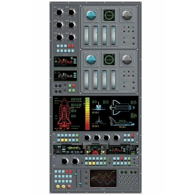 4 Walls Spaceship Control Panel Wall Decal