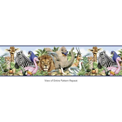 4 Walls Jungle Animals Border