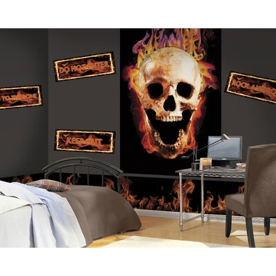 4 Walls Fired Up Mural Style Wallpaper Border
