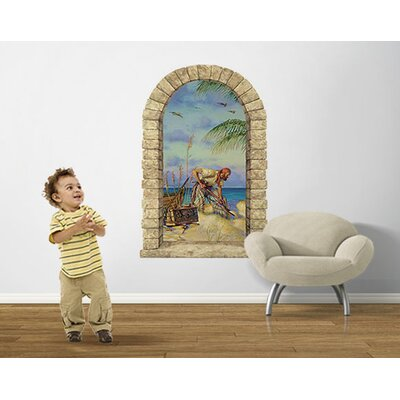 4 Walls Pirate Banking Window Wall Decal