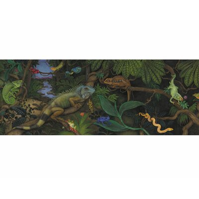 4 Walls Iguanas and Lizards Mural Style Wallpaper Border