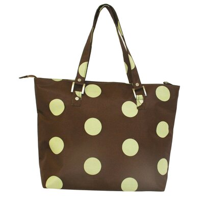 Jenni Chan Dots Laptop Zipper Tote Bag