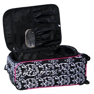 "Jenni Chan Damask 360 Quattro 25"" Upright Spinner Suitcase"