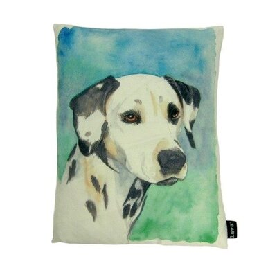 lava Dalmation Painted Pillow