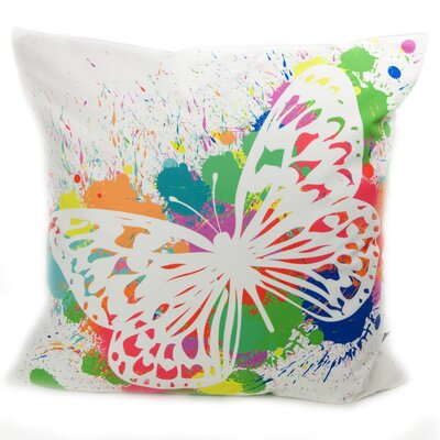 lava Butterfly Splash Pillow